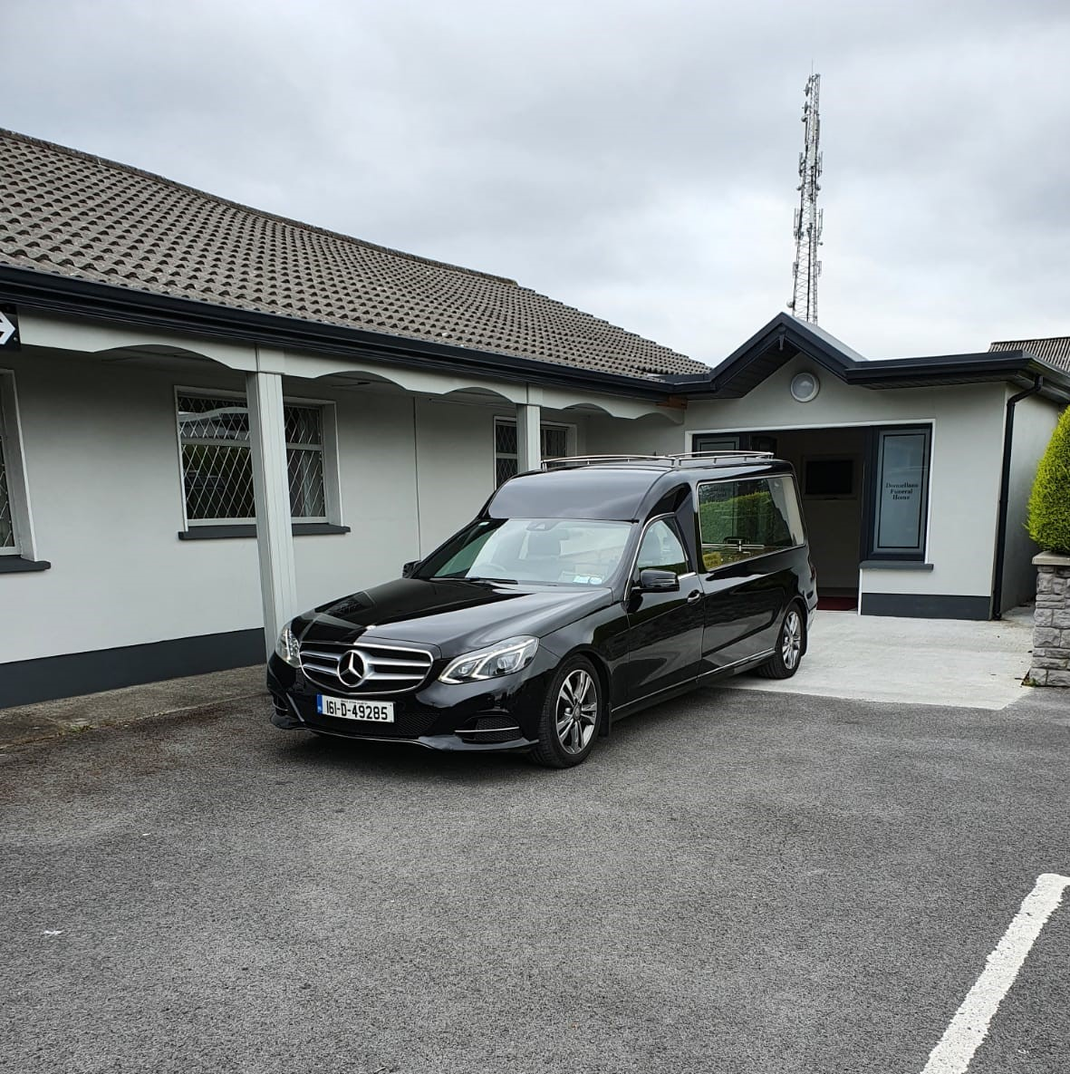 Hearse and Funeral Home